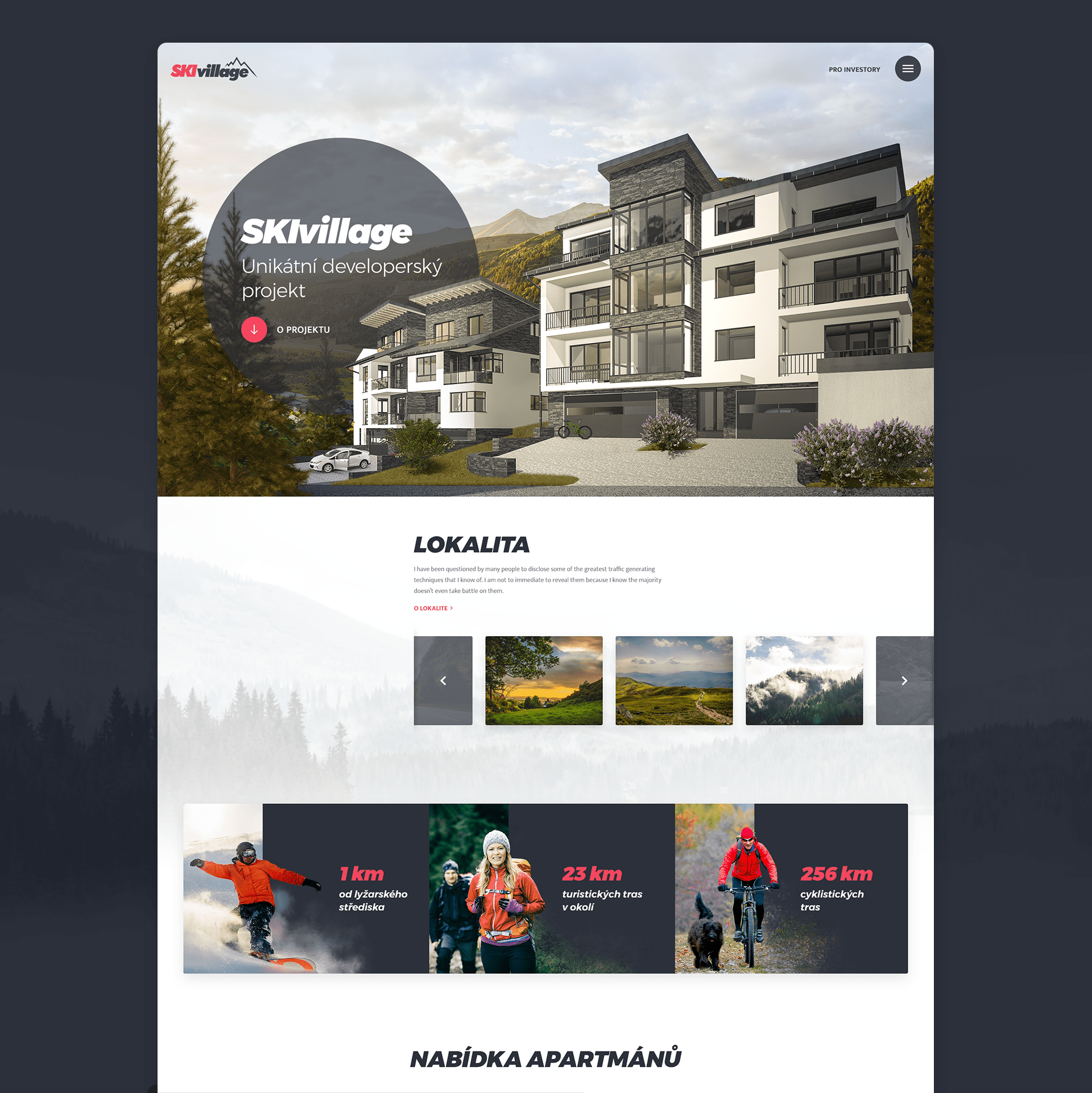 SkiVillage Web Design